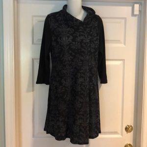 NWT reborn gray & Black Design dress